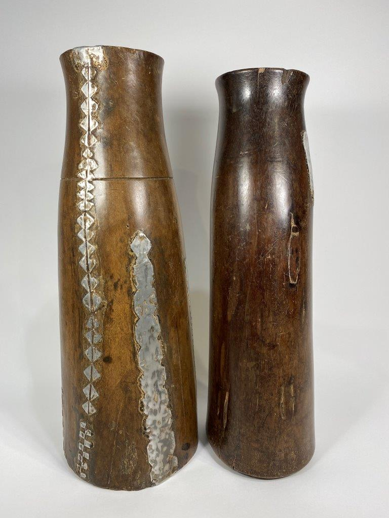 Pair of Decorated Beer Jugs