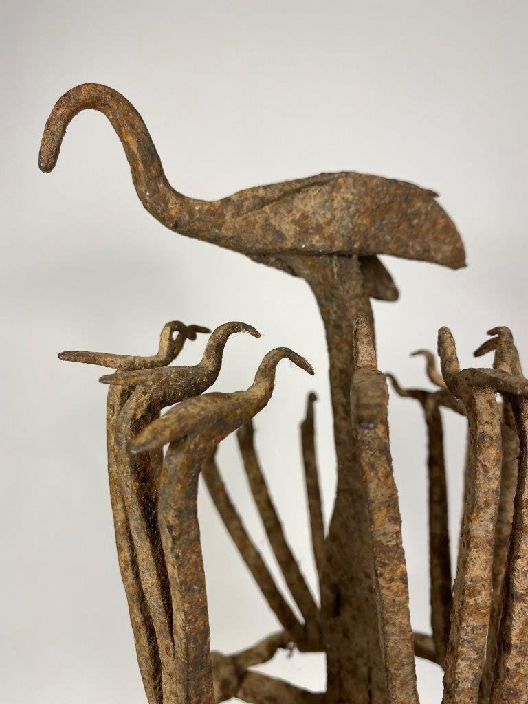 Osanyin Wrought Iron Herbalist's Staff with Birds