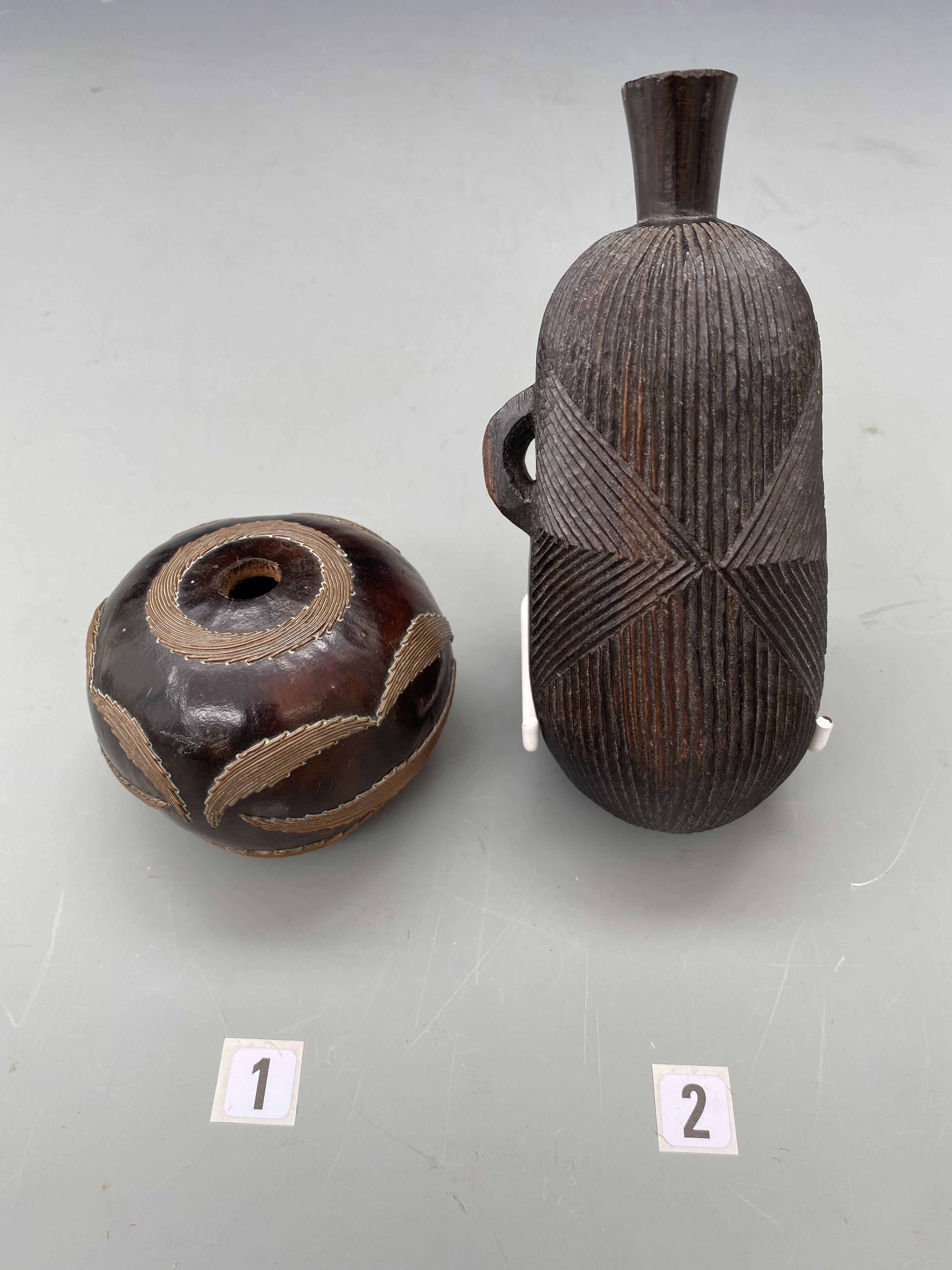Two fine Snuff Containers ( Bottle ) South Africa . Zimbabwe