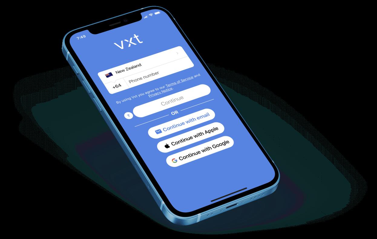 Vxt iPhone Mockup
