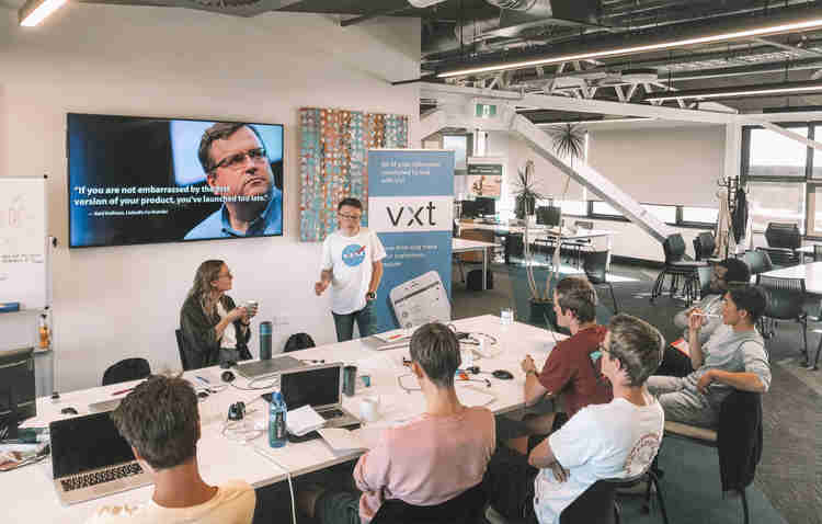 Some of the team behind the Vxt Voicemail App.
