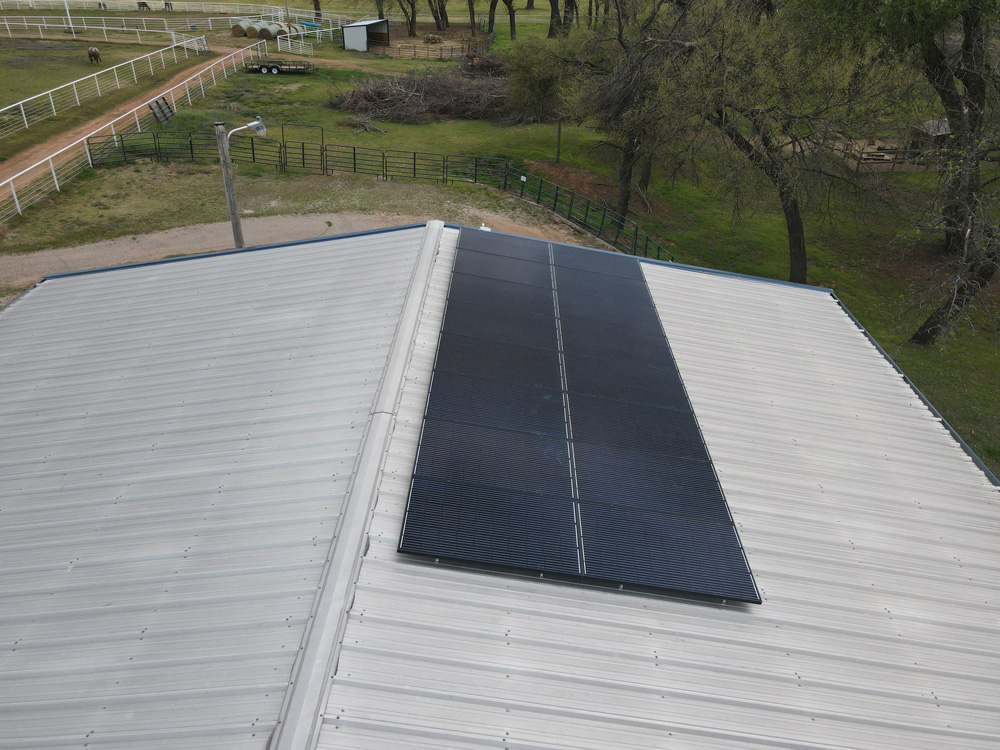 solar panels on newcastle horse arena roof