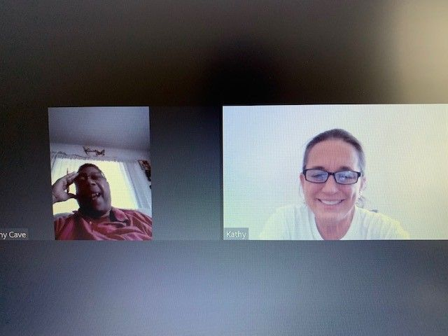 Kathy and Tony's first Zoom call!