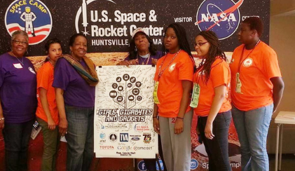 Arnita took some of the youth she mentored on a tour of the US Space & Rocket Center.