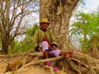 Haya enjoyed meeting locals where she traveled and trekking with them through new terrain.