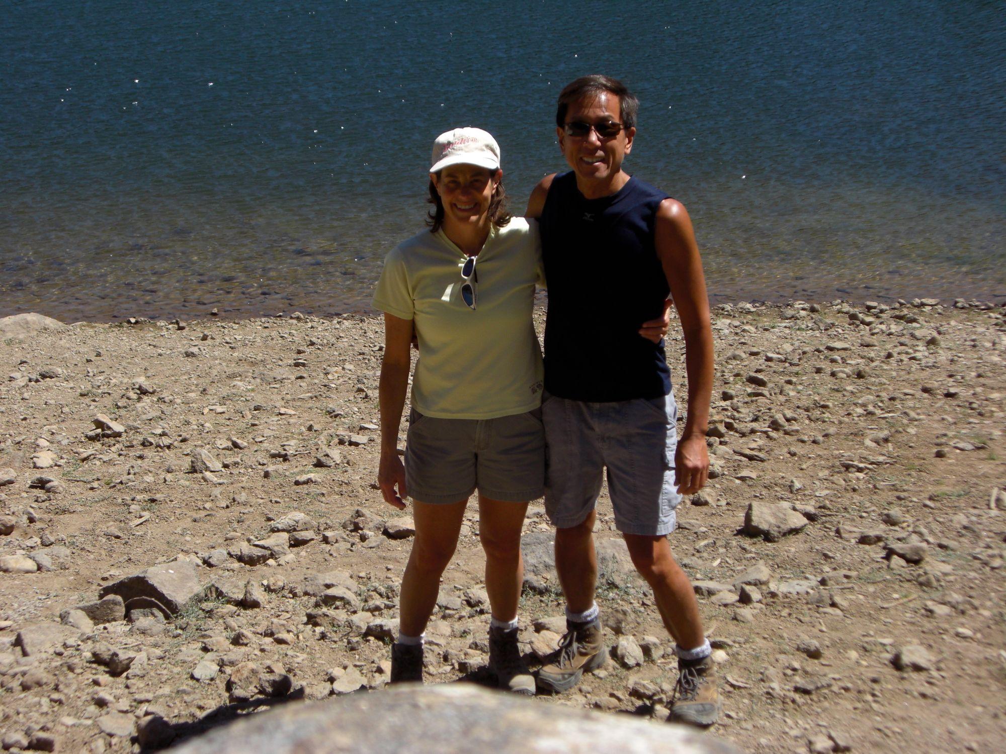 Vicki with her husband at Lake Tahoe.