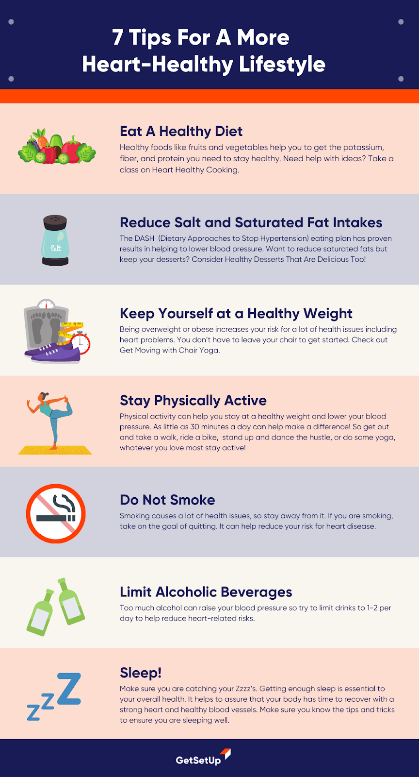 Tips for Healthy Heart Lifestyle Changes To Reduce Blood Pressure
