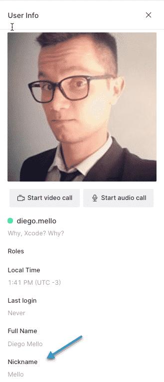 Choose user by their nickname