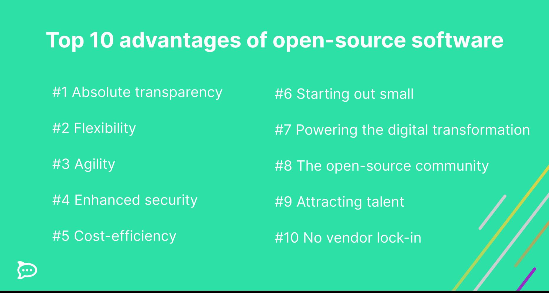 open source software advantages
