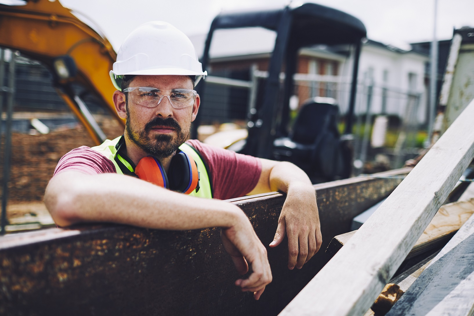 Construction worker advocates for workplace health and safety for Safe Work Month