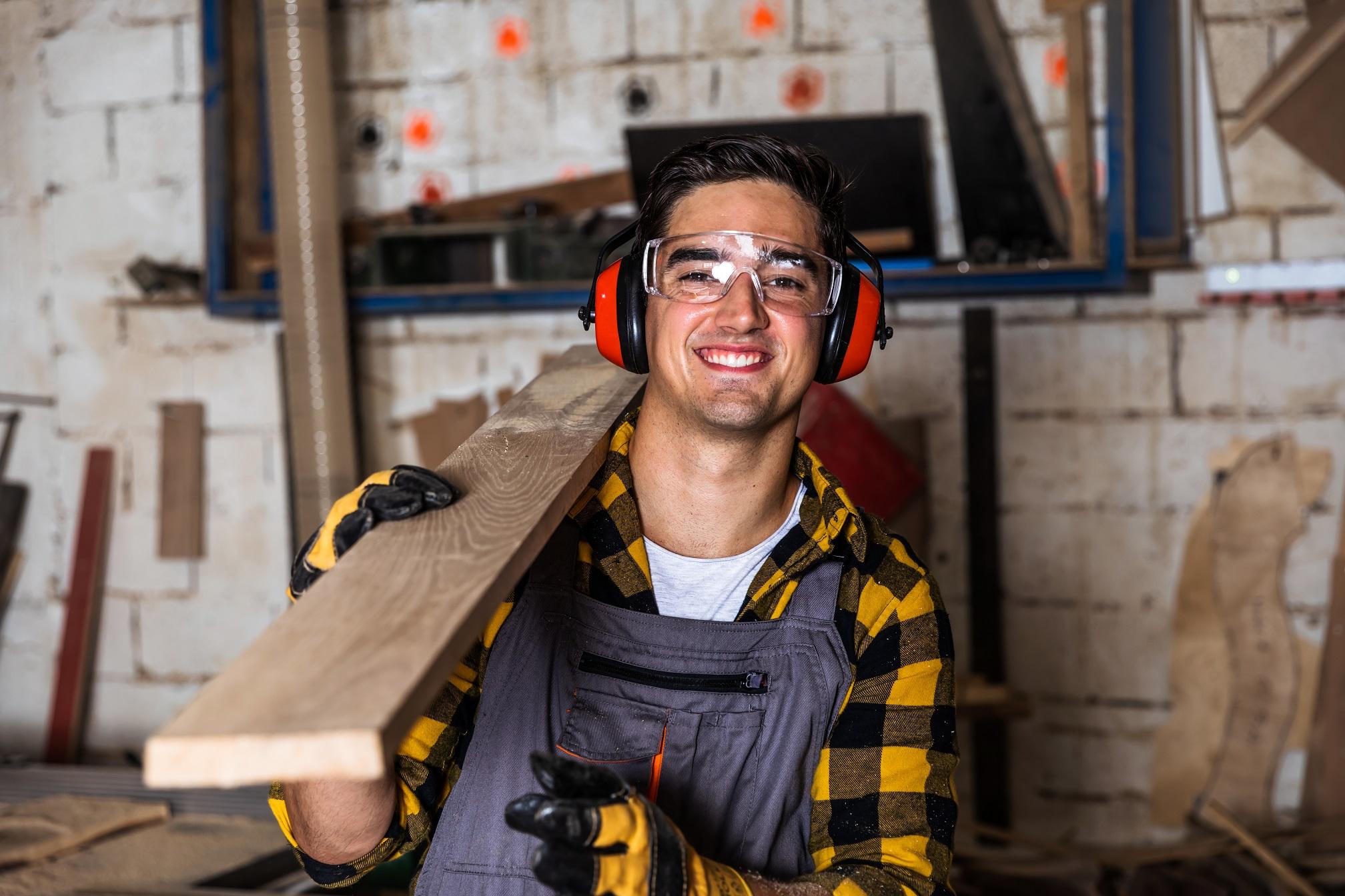 Carpenter hard at work