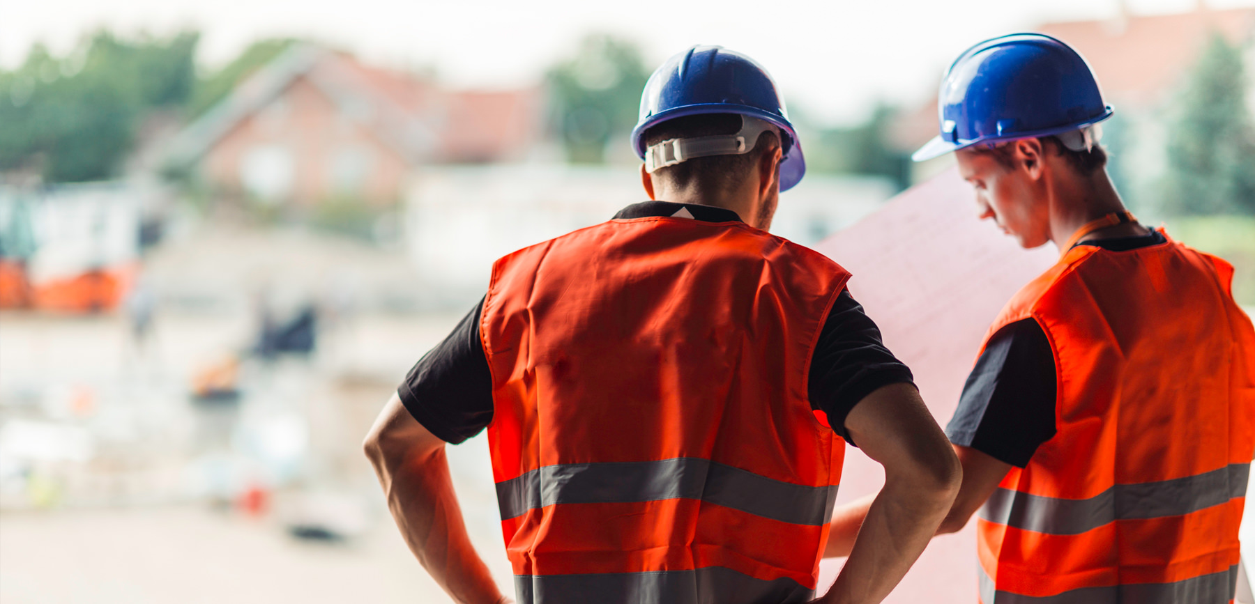 Construction workers in hi-vis