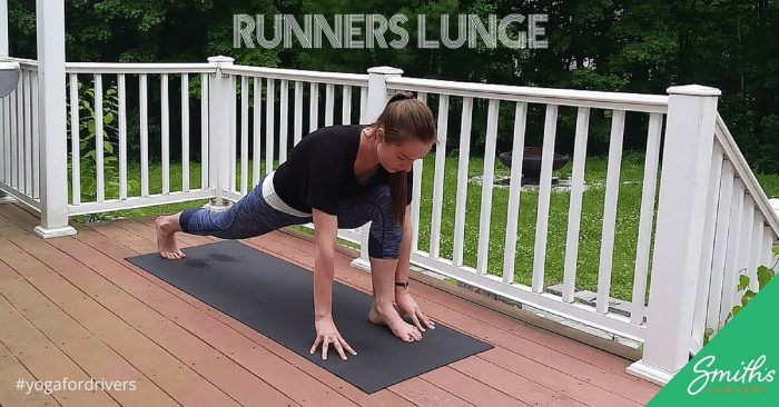 Runners lunge yoga pose