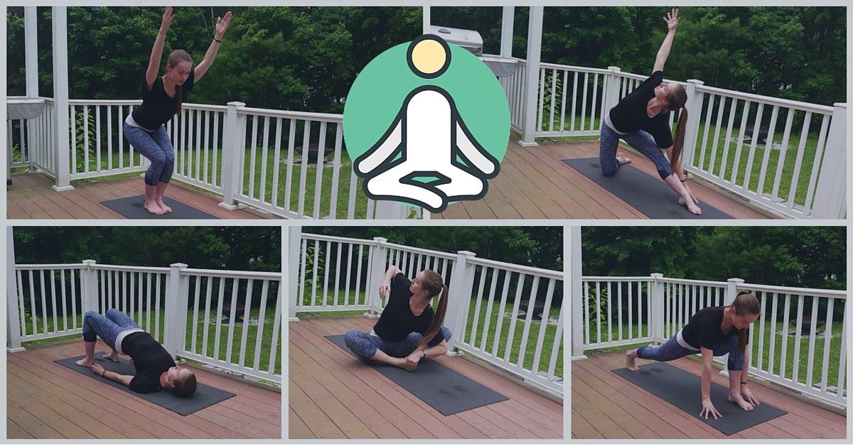 Yoga pose collage
