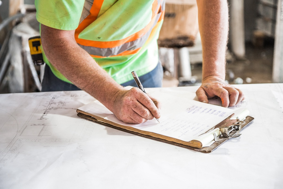 Worker signing forms