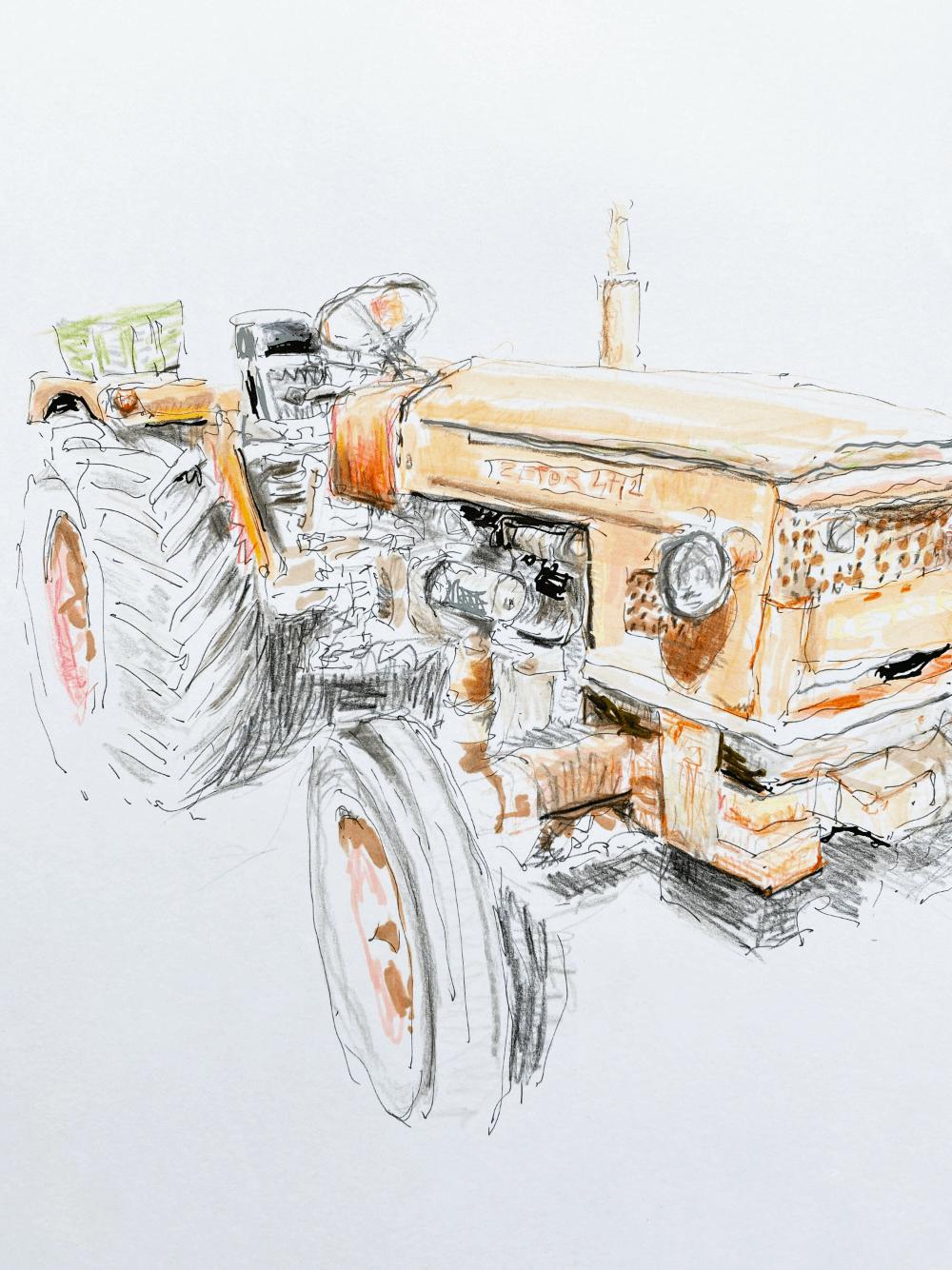 Le tracteur orange - Cap Ferret