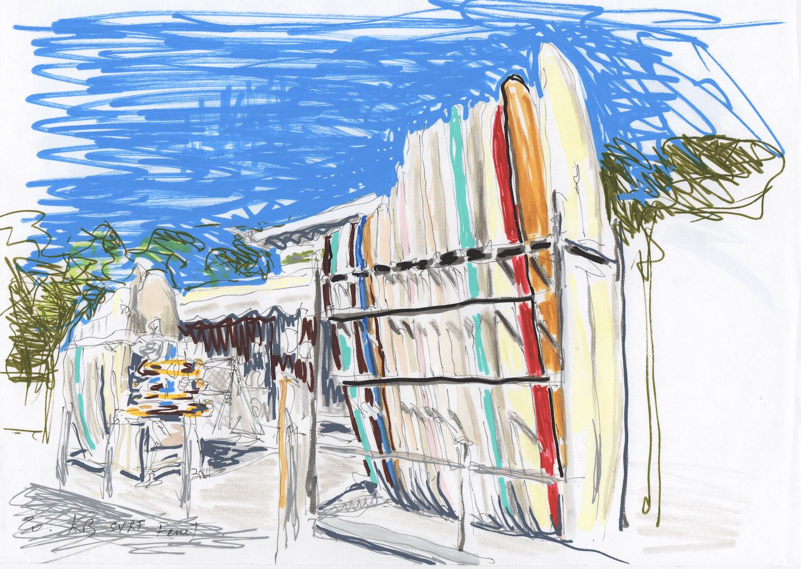 Cap Ferret - Les planches de surf