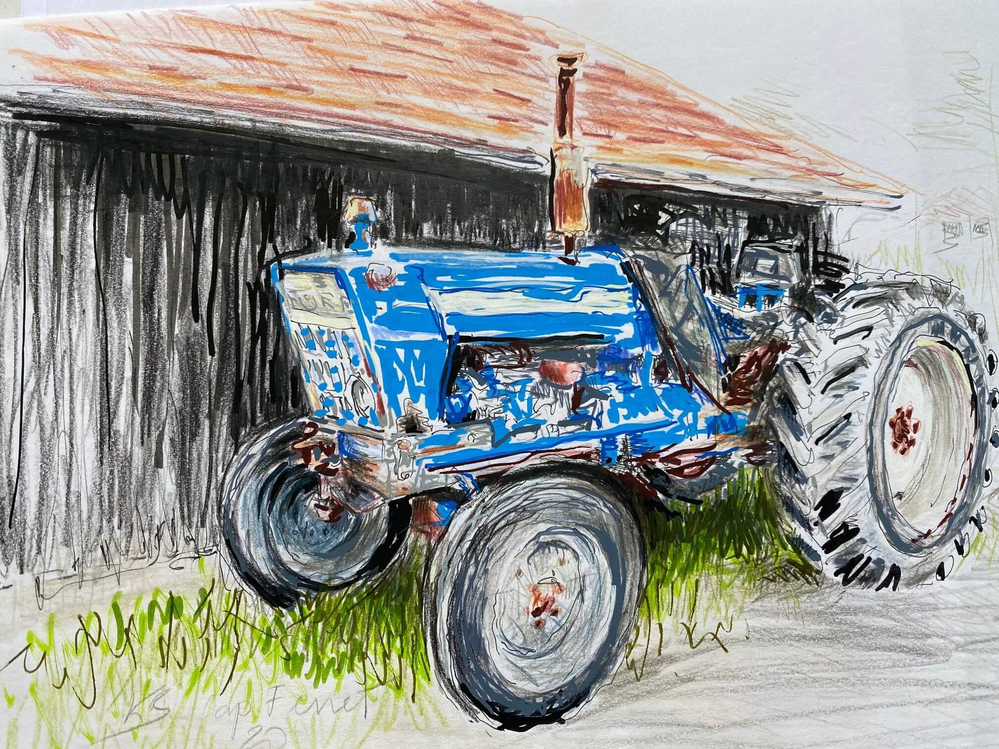 Le tracteur bleu - Cap Ferret