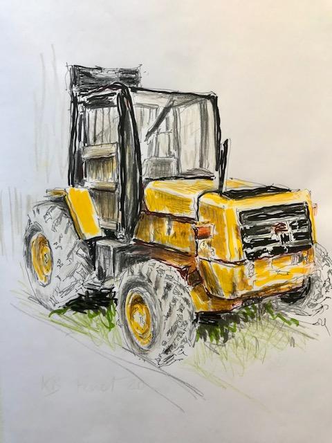 Le tracteur jaune - Cap Ferret