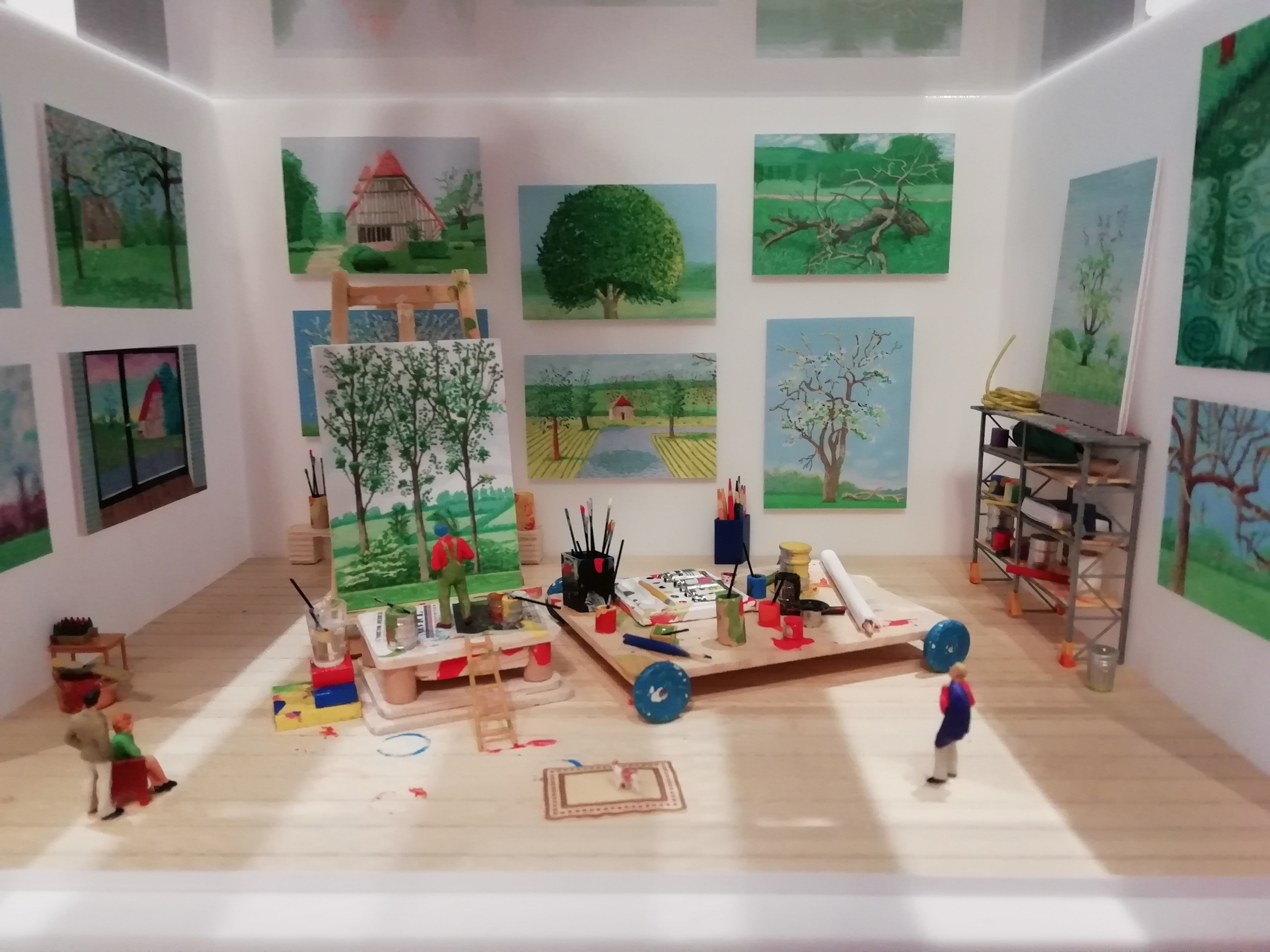 Dans l'atelier de David Hockney