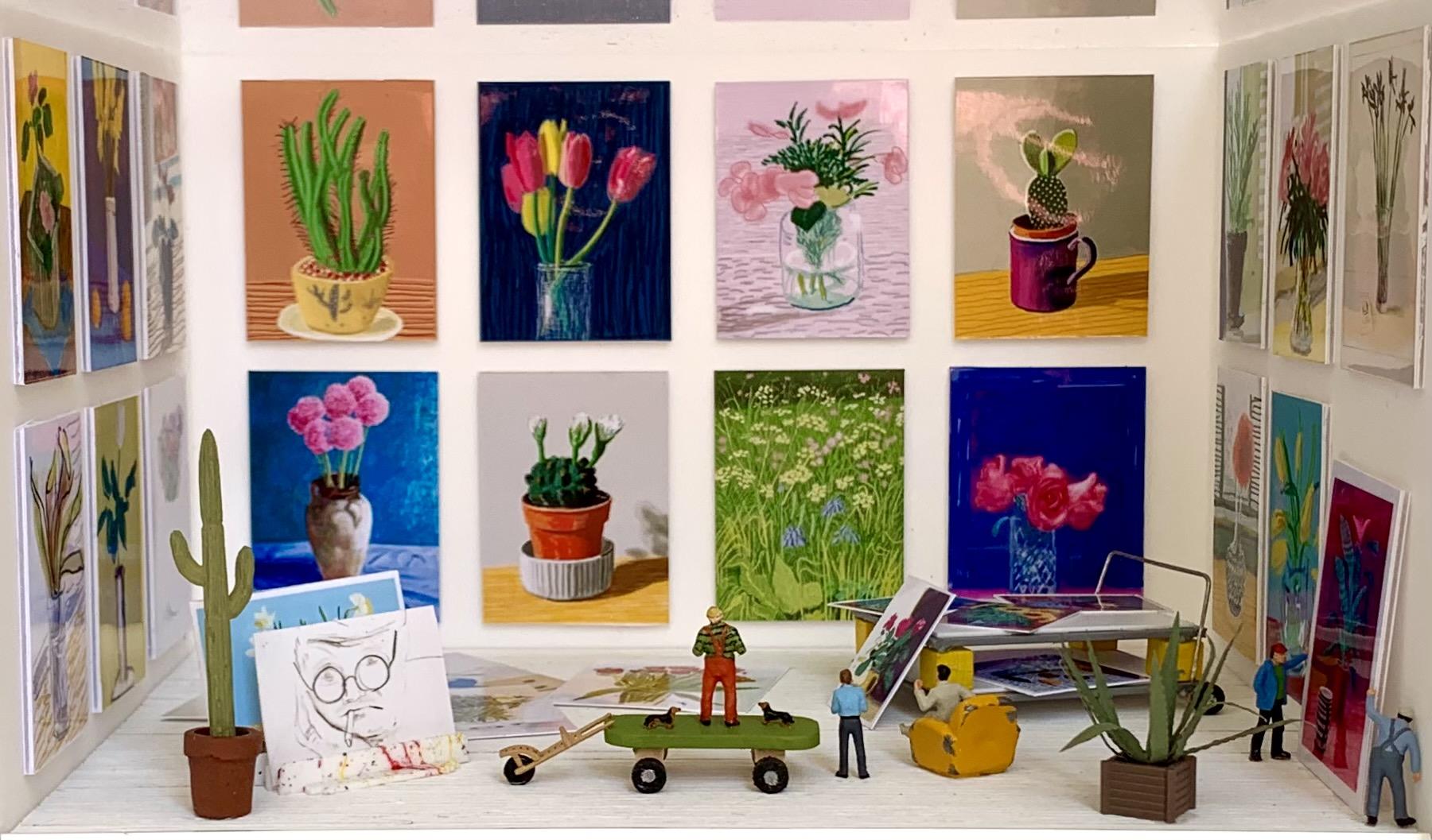 Dans l'atelier de David Hockney  - les fleurs