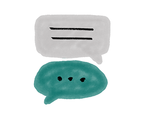 illustration of two speech bubbles