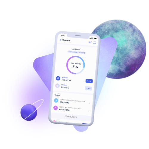 Keplr Wallet for iPhone and Android mobile devices