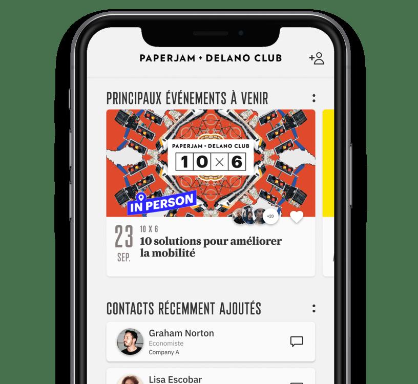 Paperjam+Delano club app