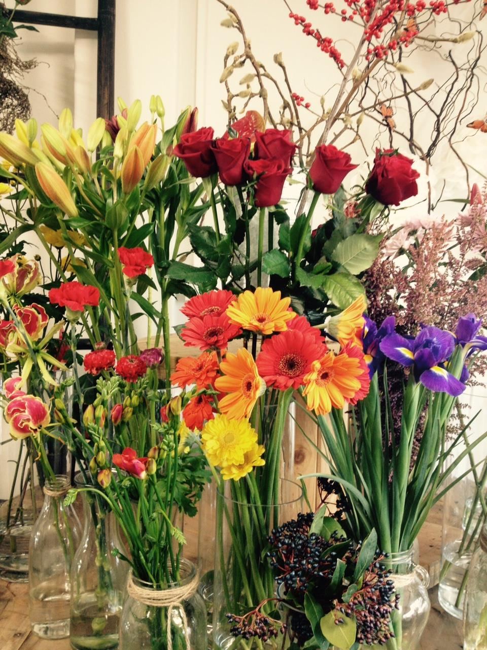 Let us pick, Freshly available flowers and put together a great bouquet just for you!