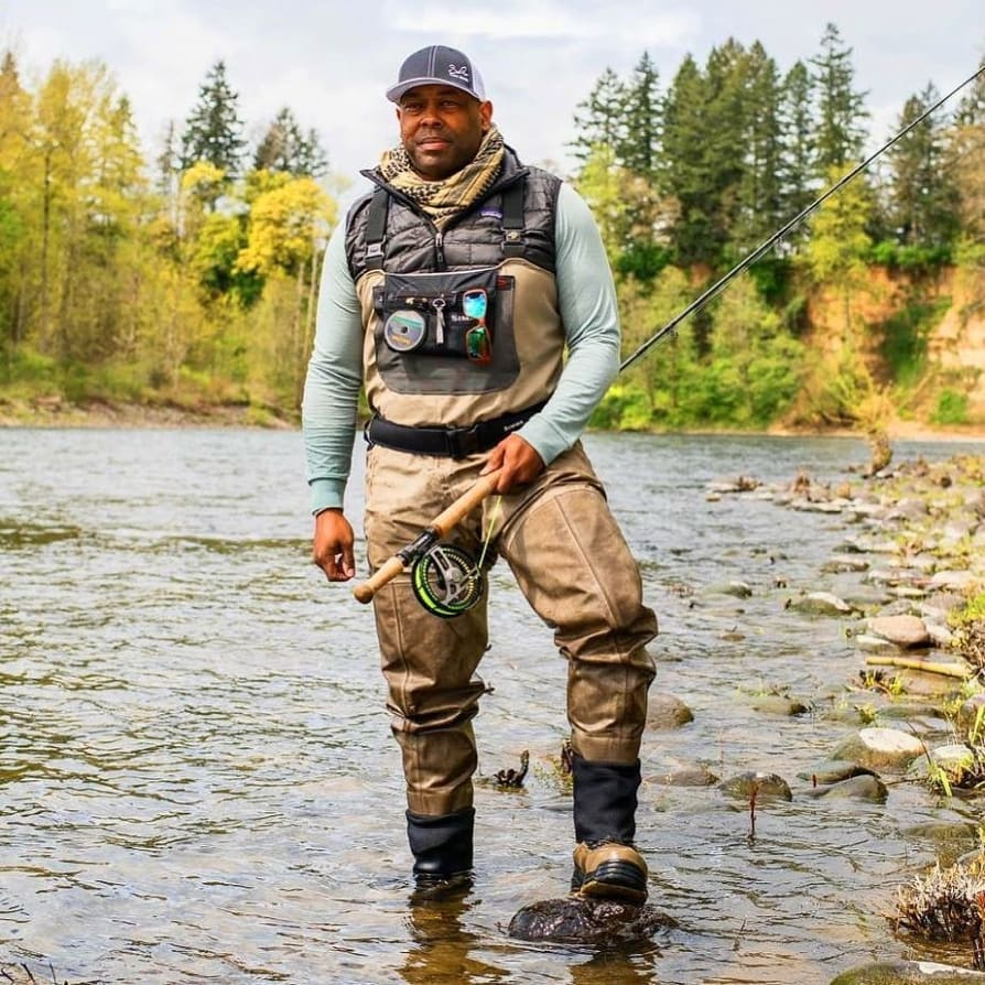Instagram image from Chad Brown showing him fly fishing.