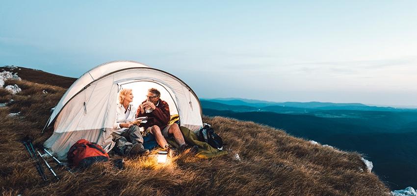 senior-couple-camping