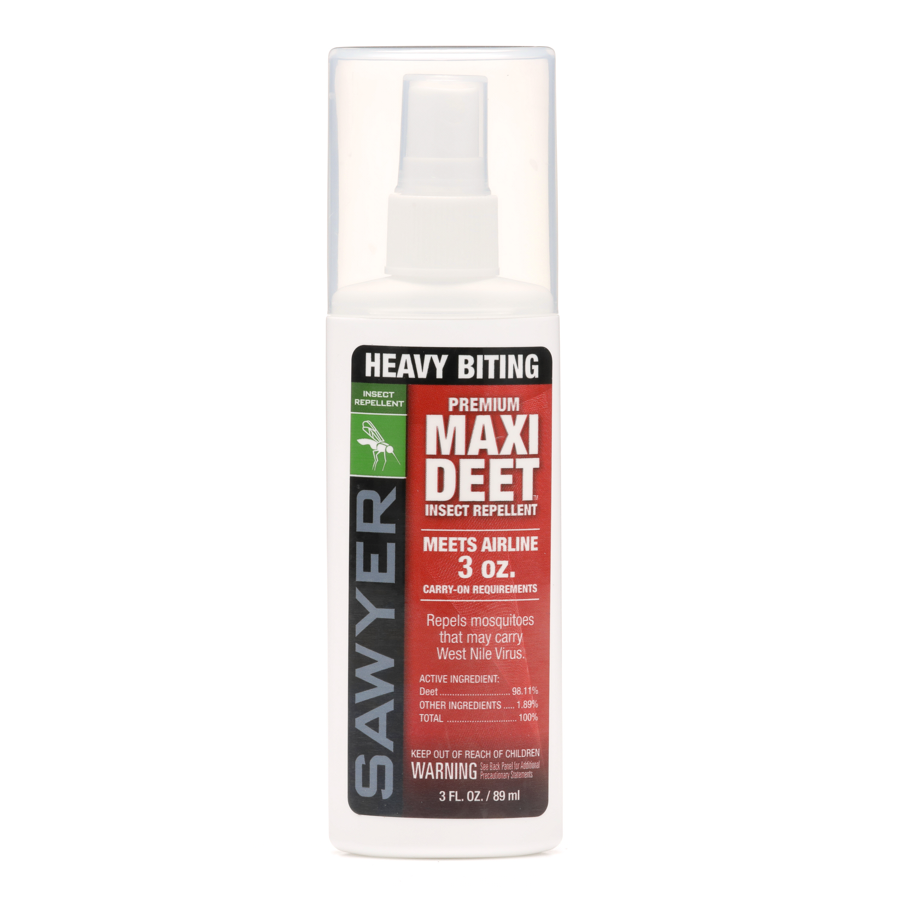 Sawyer MAXI DEET Insect Repellent Spray Spin 360