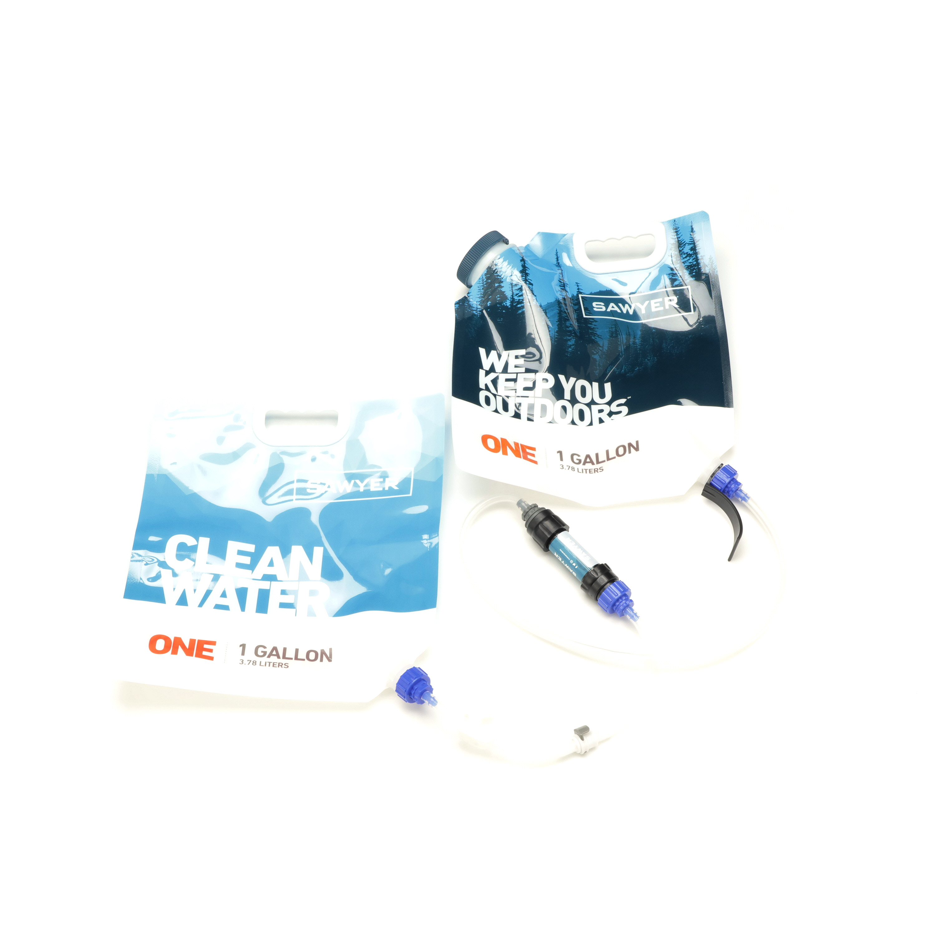 A Dual Bladder Sawyer Gravity Water Filtration System Spin 360