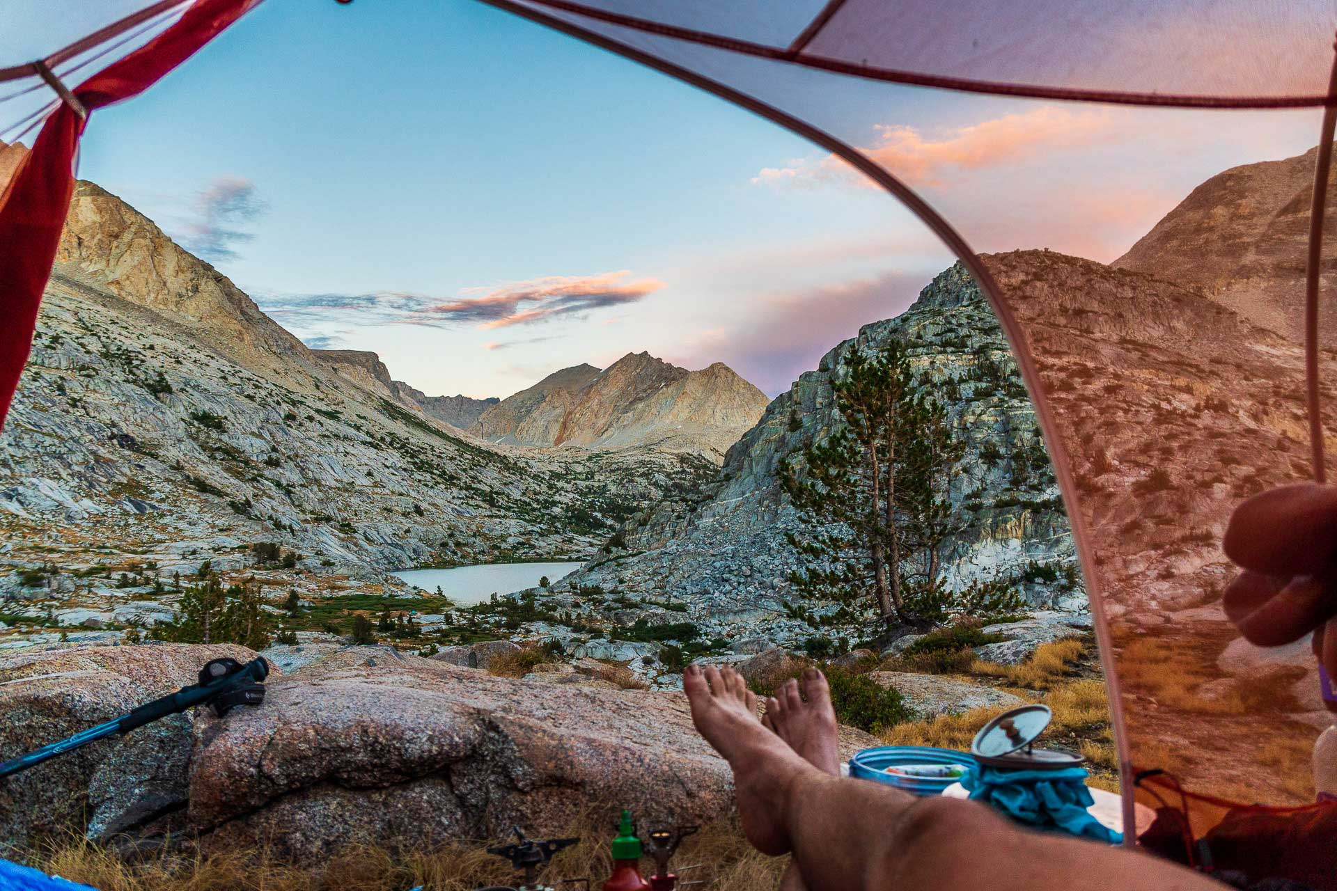 Pacific-Crest-Trail-Lakes-Sunset-PCT-Survey-Gear-2020-Featured-No-Text