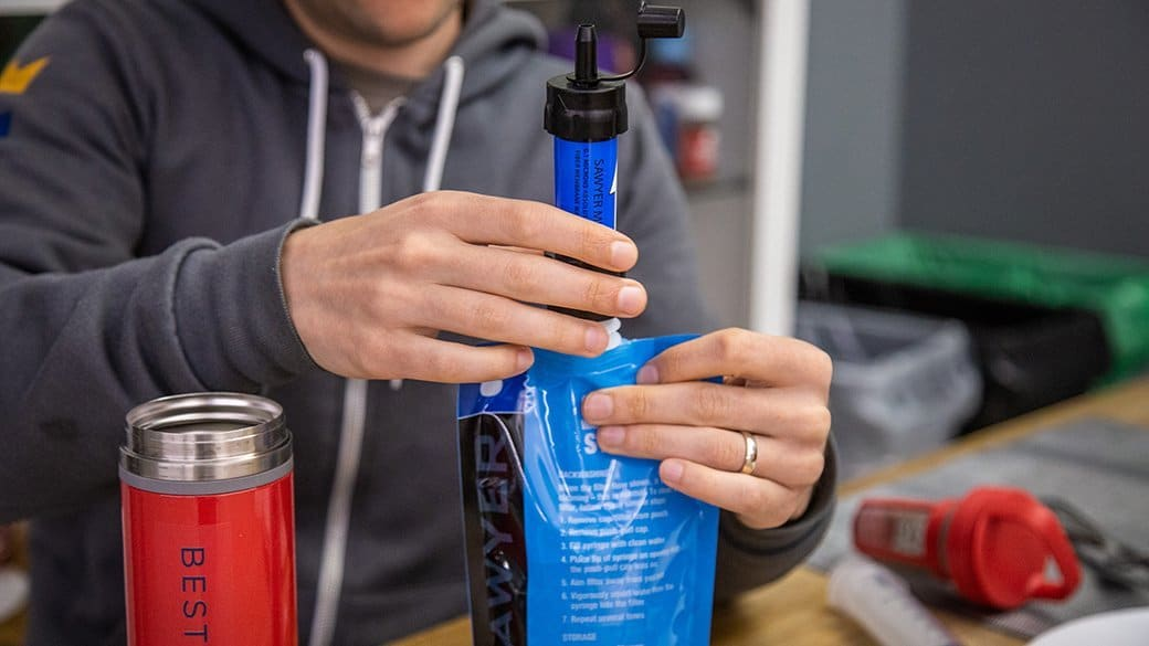 In most instances, cleaning a water filter straw is as easy as pushing clean water through the device in the opposite direction of its normal operation. However, the manufacturer's instructions should always be consulted first.