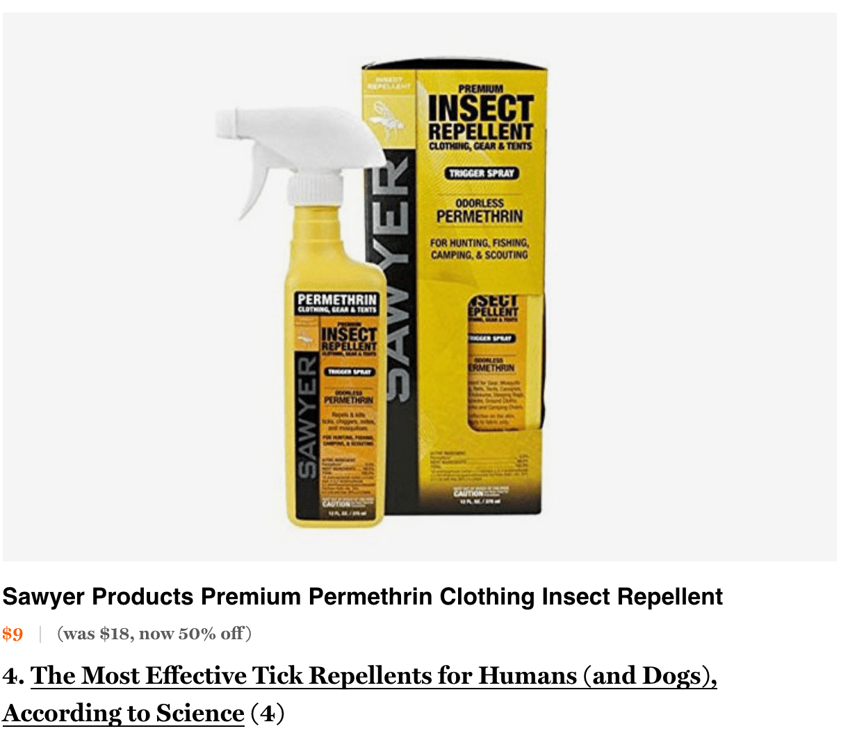 NYMag Strategist Best Bug Spray