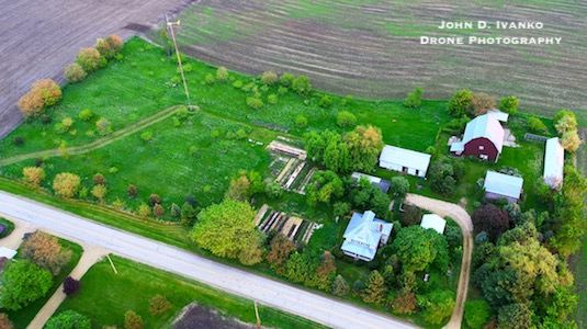 Mother Earth News Protection from Lyme inn-5acres-property-DJI_0015-farmstead