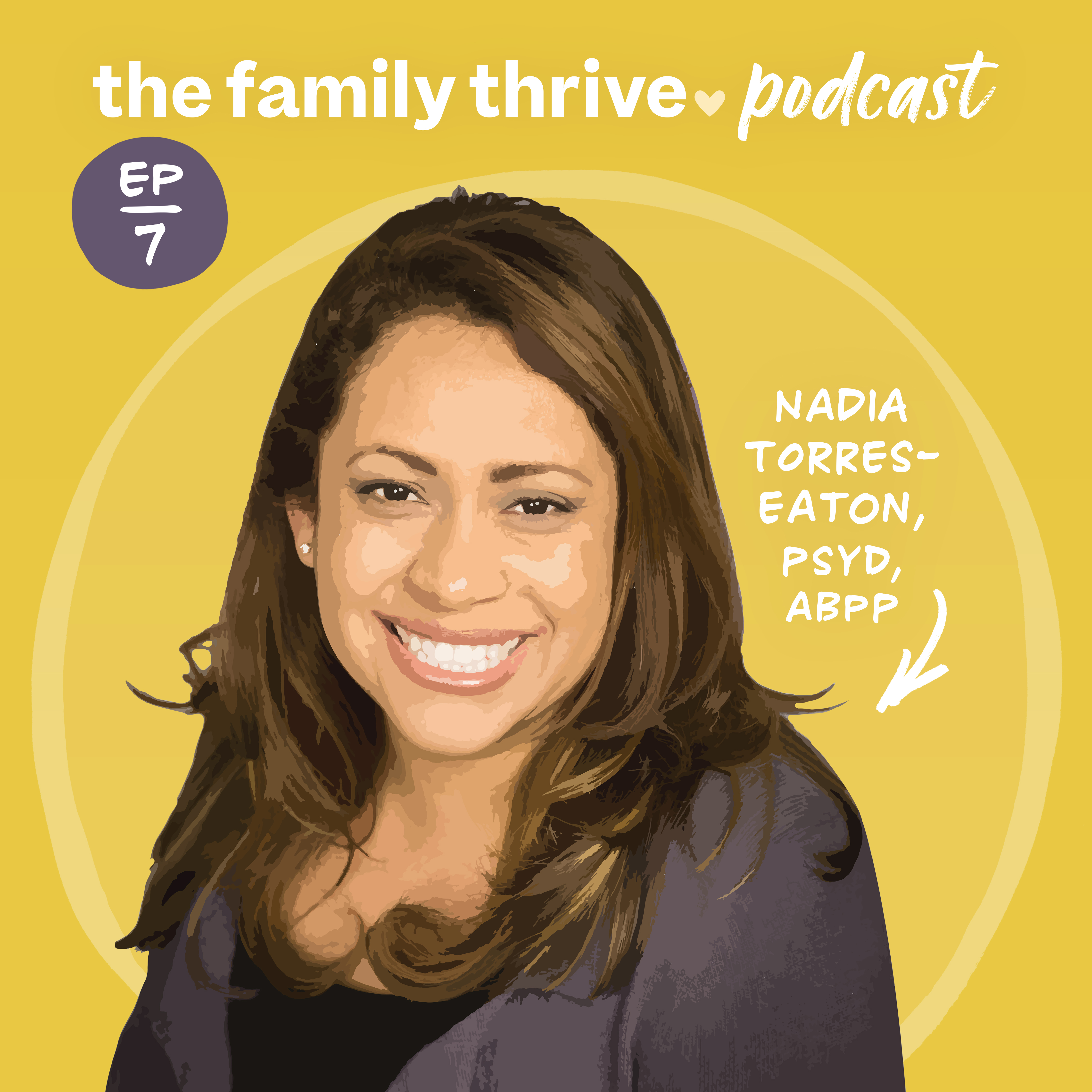 Podcast Ep. 7: Growing up between cultures, healing trauma, and cultivating self-compassion with Nadia Torres-Eaton, PsyD