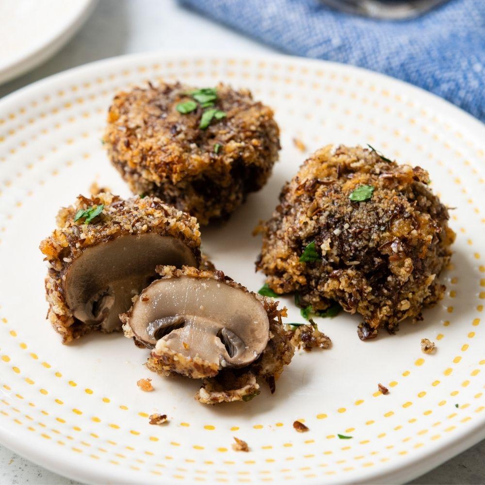 Oven-Baked Garlicky Mushrooms